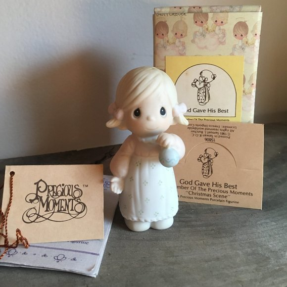 Precious Moments 1985 God Gave His Best Figurine